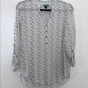 Cynthia Rowley pattern blouse